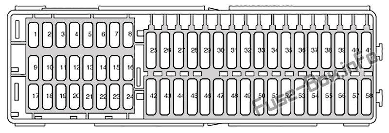 Схема блока предохранителей в панели приборов: SEAT Altea (2005)