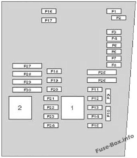 Схема блока предохранителей под капотом: SEAT Altea (2005-2015)