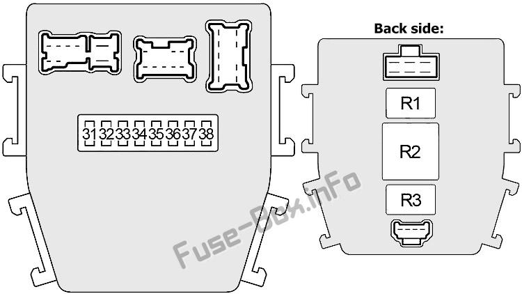 Схема внутреннего блока предохранителей # 2: Infiniti Q45 (2001, 2002, 2003, 2004, 2005, 2006)