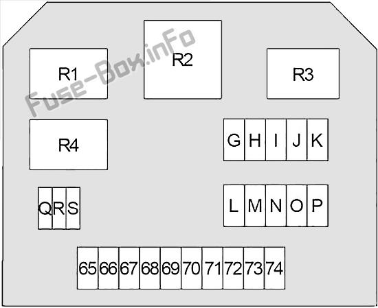Схема блока предохранителей под капотом # 2: Infiniti Q50 (2013, 2014, 2015)