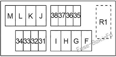 Схема блока предохранителей под капотом # 2: Infiniti QX56 / QX80 (2010, 2011, 2012, 2013, 2014, 2015, 2016, 2017)
