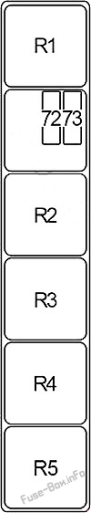 Блок реле # 2: Infiniti JX35, QX60 (2012, 2013, 2014, 2015, 2016, 2017)