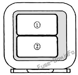 Схема блока предохранителей в багажнике: Mazda MX-5 Miata (NA; 1989, 1990, 1991, 1992, 1993, 1994, 1995, 1996, 1997)